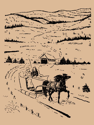 Toby and Tish sleigh ride